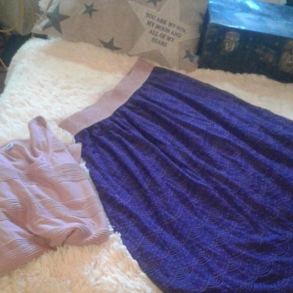 LuLaRoe Dresses & Skirts - 🖤💜💖LACE PURPLE LOLA MIDI SKIRT💖💜🖤